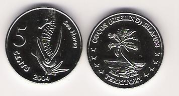 Keeling-Cocos Island 5 Cent 2004
