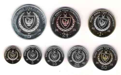 Northern Cyprus 8 coins set 2010