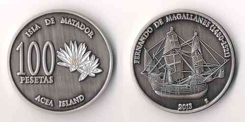 100 pesetas isla Acea o Matador